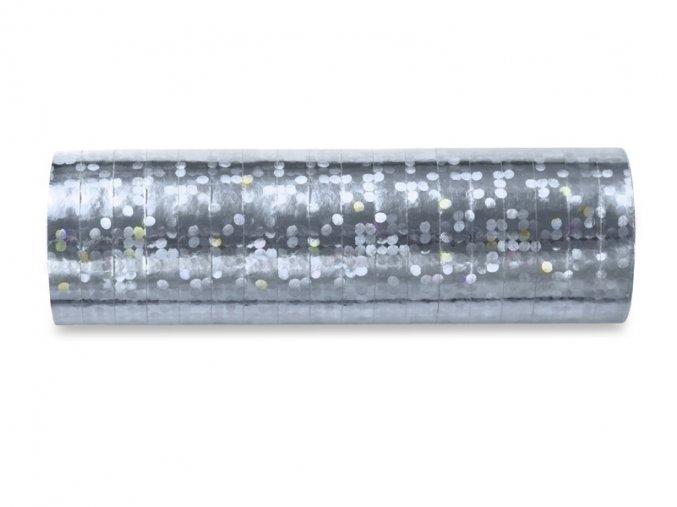 Serpentýny stříbrné 3,8m (18 proužků)