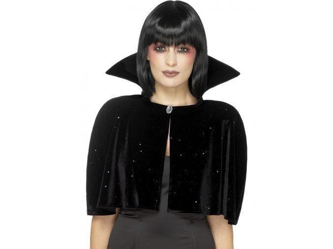Černý plášt s límcem