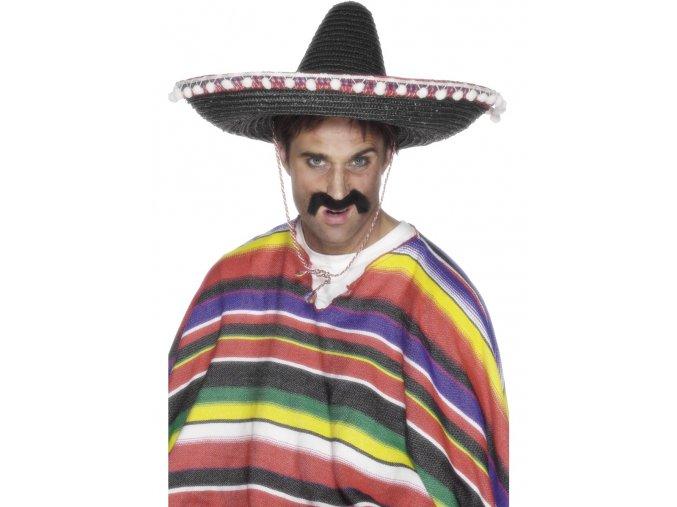 Mexické sombrero černé