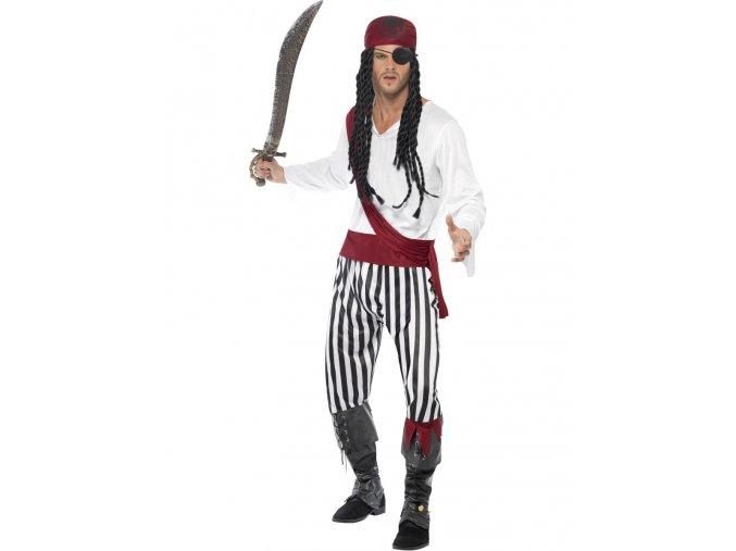 Pánský kostým Pirát (pruhovaný)