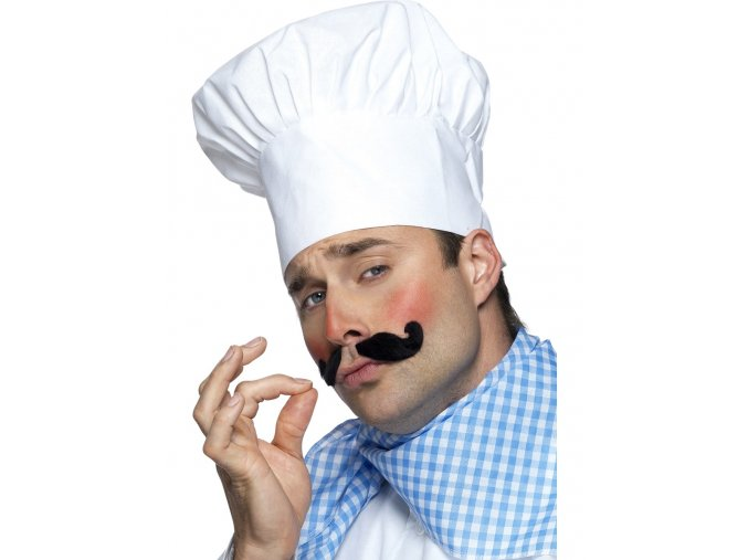 Bílá kuchařská čepice