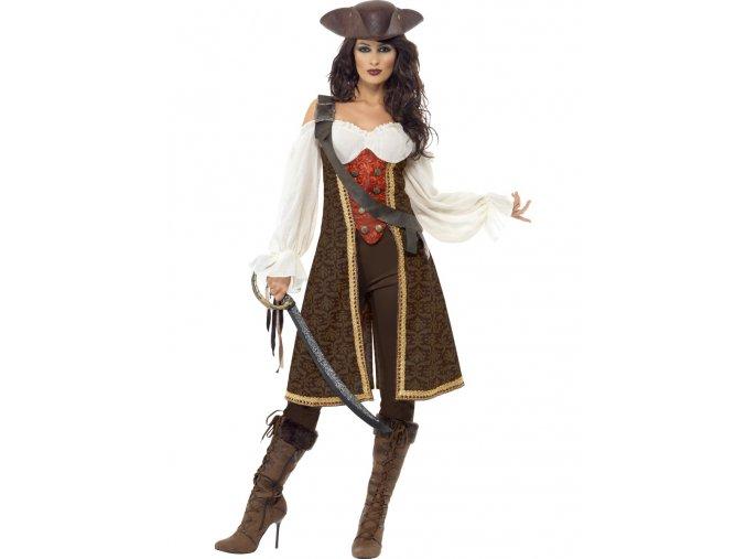 Dámský kostým pirátka Kapitánka