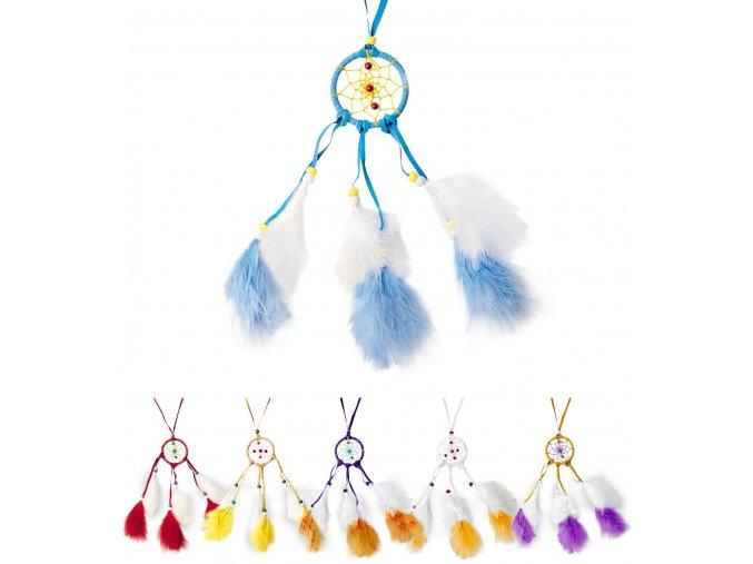 Indiánský lapač snů barevný