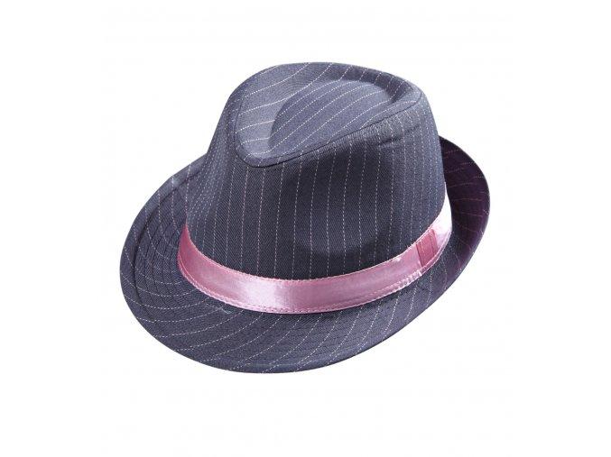 Dámský klobouk s proužky gangsterka