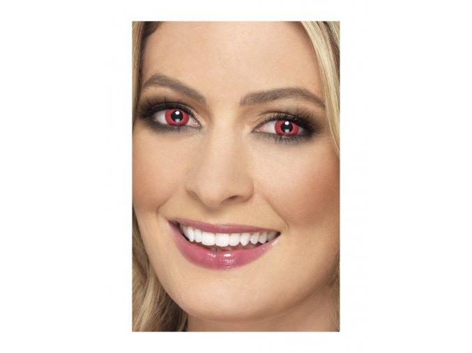 Barevné kontaktní světle červené čočky