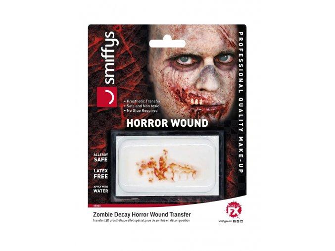Umělé zranění Odhalená dáseň se zuby zombie
