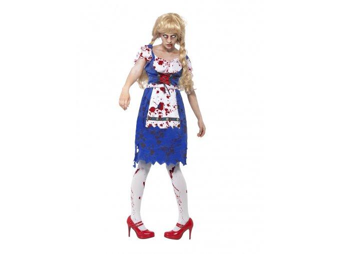 Dámský kostým Zombie Bavorská žena
