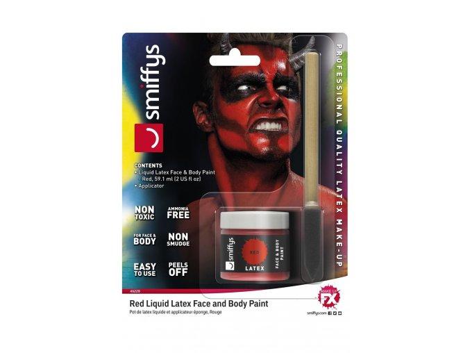 Červený tekutý latex make-up