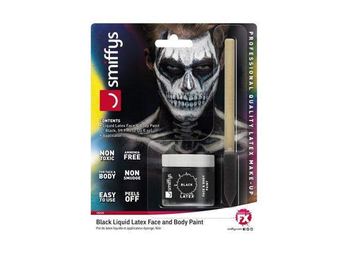 Černý tekutý latex make-up