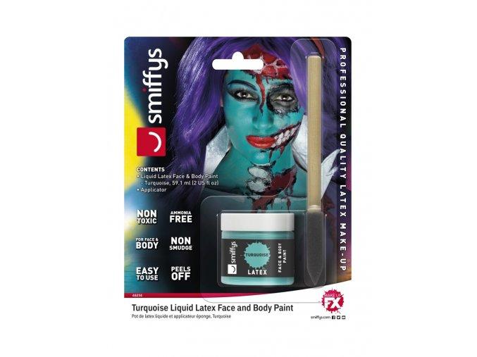 Tyrkysový tekutý latex make-up