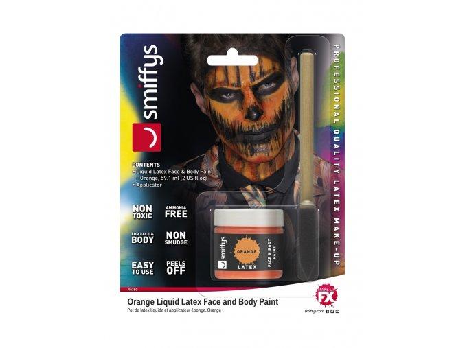Oranžový tekutý latex make-up