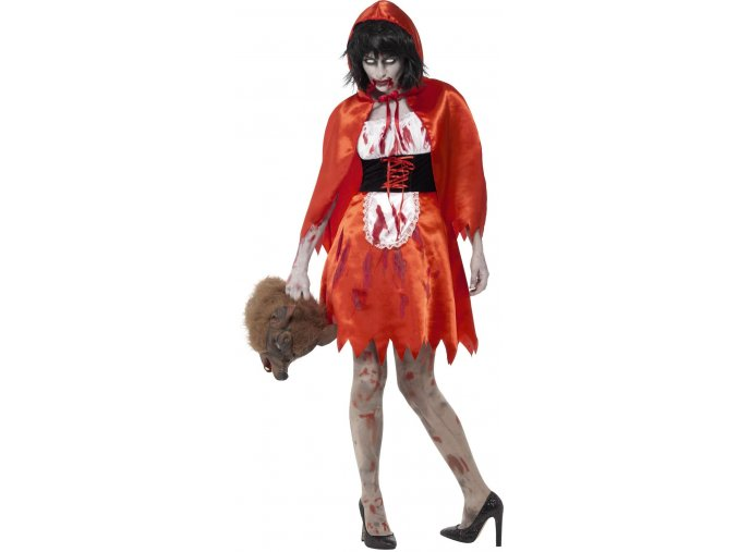 Dámský kostým Zombie Červená Karkulka (Dámská velikost XS (32-34))