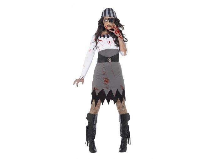 Dámský kostým Zombie Pirátka