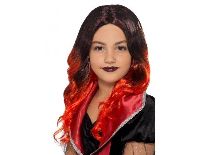 Dětská červená paruka Čarodějnice