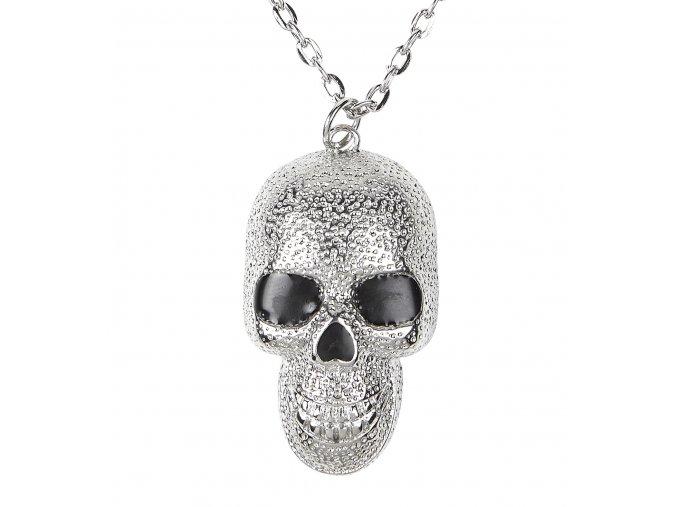Náhrdelník stříbrná lebka