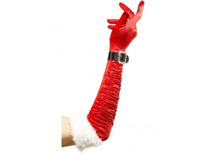 Dámské vánoční rukavice dlouhé