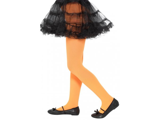 Dětské punčocháče oranžové (6-12 let)