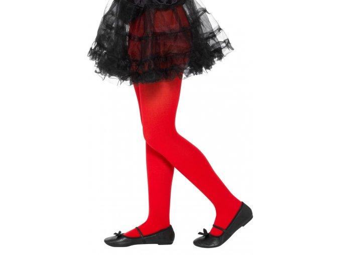 Dětské punčocháče červené (6-12 let)