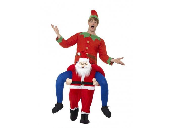 Kostým jízda na zádech Santa Claus