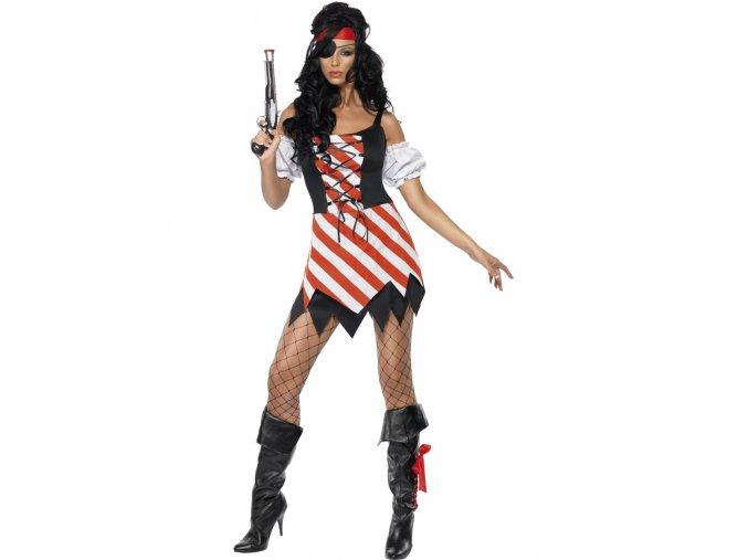 Dámský kostým pirátka (pruhované šaty)