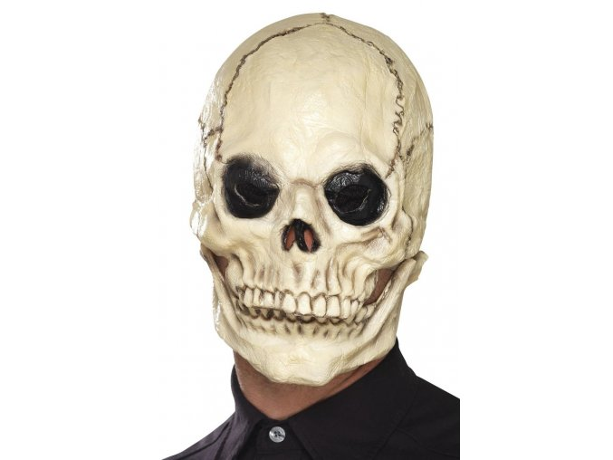 Maska kostlivec s pohyblivou čelistí
