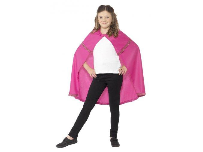 Dětský plášť Princezna růžový