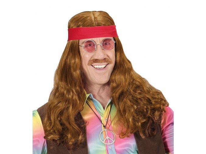 Hippies sada (paruka,knír,čelenka)