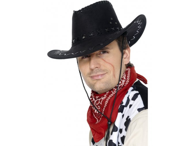 Kovbojský klobouk - černý
