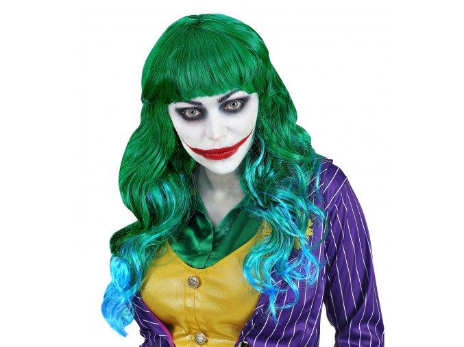 Dámská zelená paruka Joker