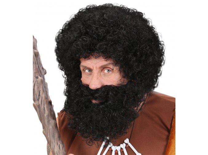 Pánská kudrnatá paruka s vousy