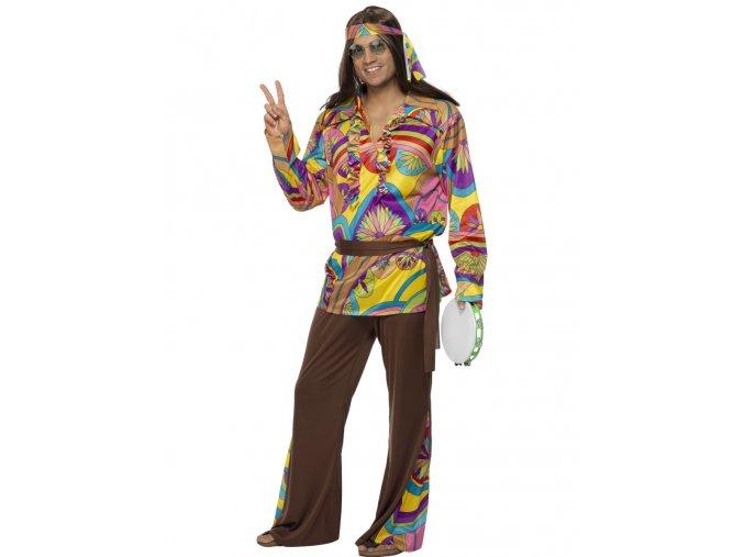 Pánský kostým Hippies (hnědý)