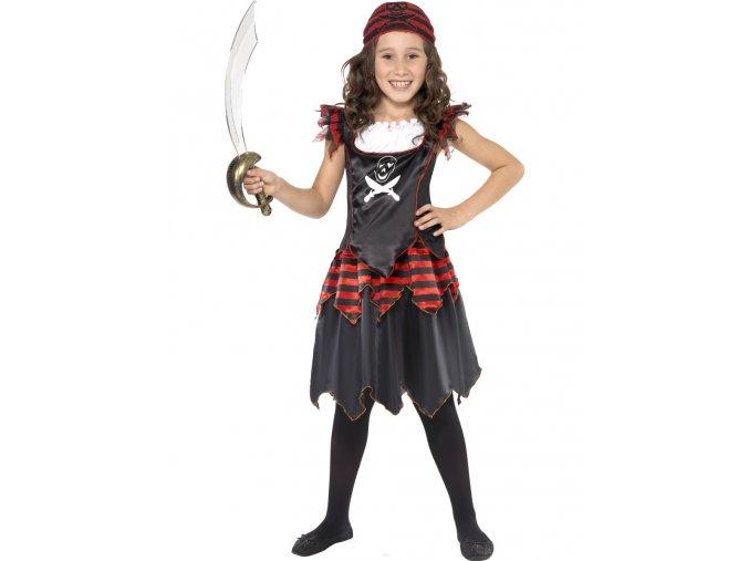 Dětský kostým Pirátka s šátkem