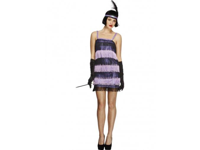 Dámský kostým 30.léta fialový