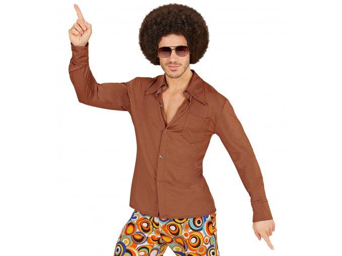 Pánská Disco košile hnědá
