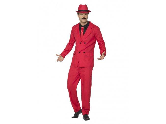 Pánský kostým mafiána červený