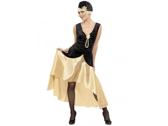 Dámský zlatý kostým Charleston