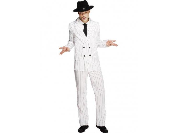 Pánský kostým mafiána bílý
