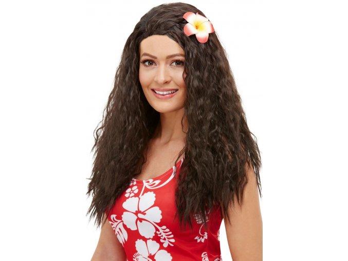 Paruka Havajská s květinou
