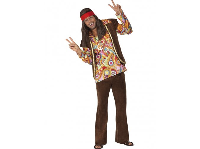 Pánský kostým hipík deluxe
