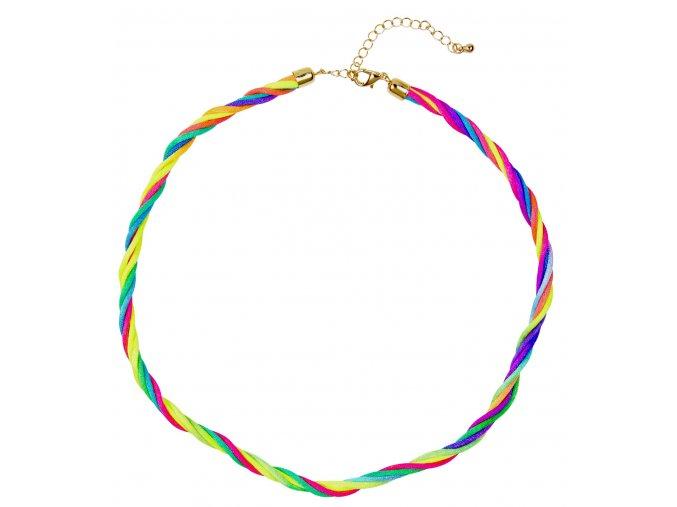 Duhový disco náhrdelník