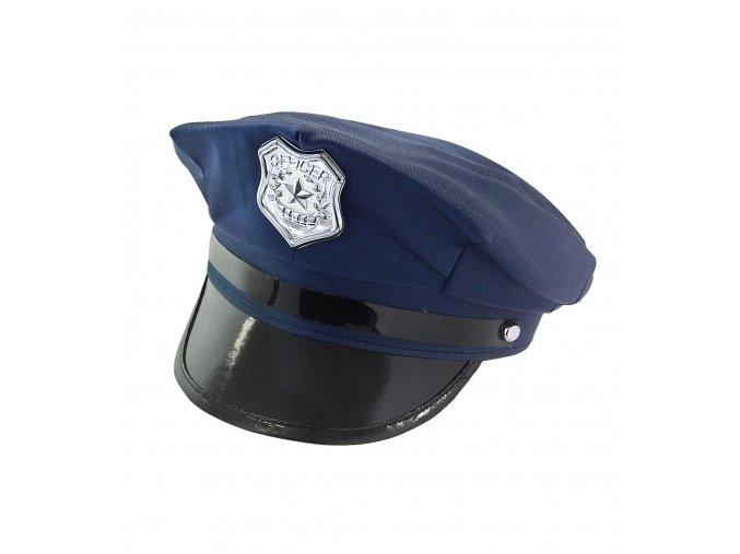 Policejní čepice modrá