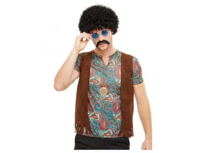 Sada pro Hippies (paruka,knír,brýle,náhrdelník)