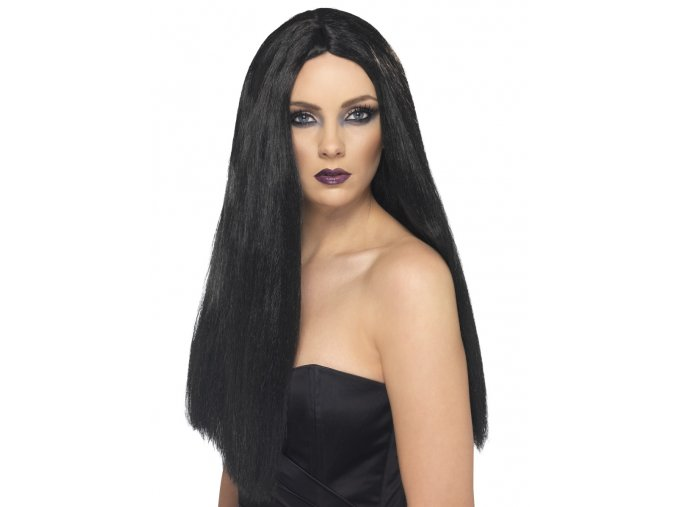 Černá paruka Čarodějka