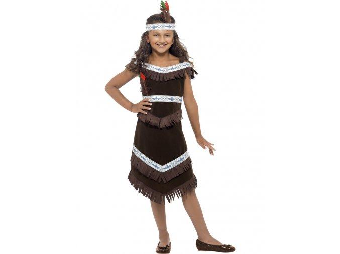 Dětský kostým Indiánka (tmavě hnědá)