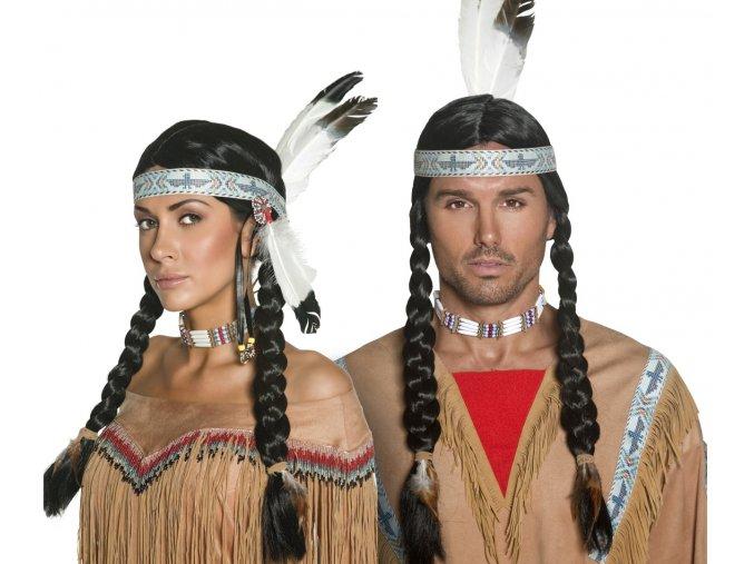 Indiánská paruka Copánky deluxe