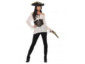 Dámská pirátská košile ivory Deluxe