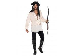 Pirátská košile ivory