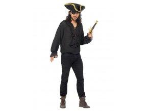 Pirátská košile černá