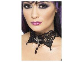 Krajkový gothic náhrdelník