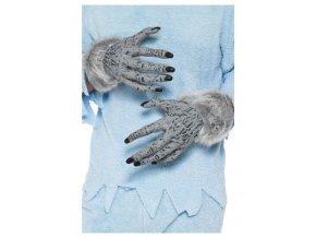 Kožešinové rukavice vlkodlak